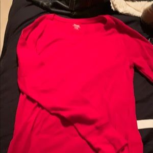 Red old navy thermal long sleeve tee size medium